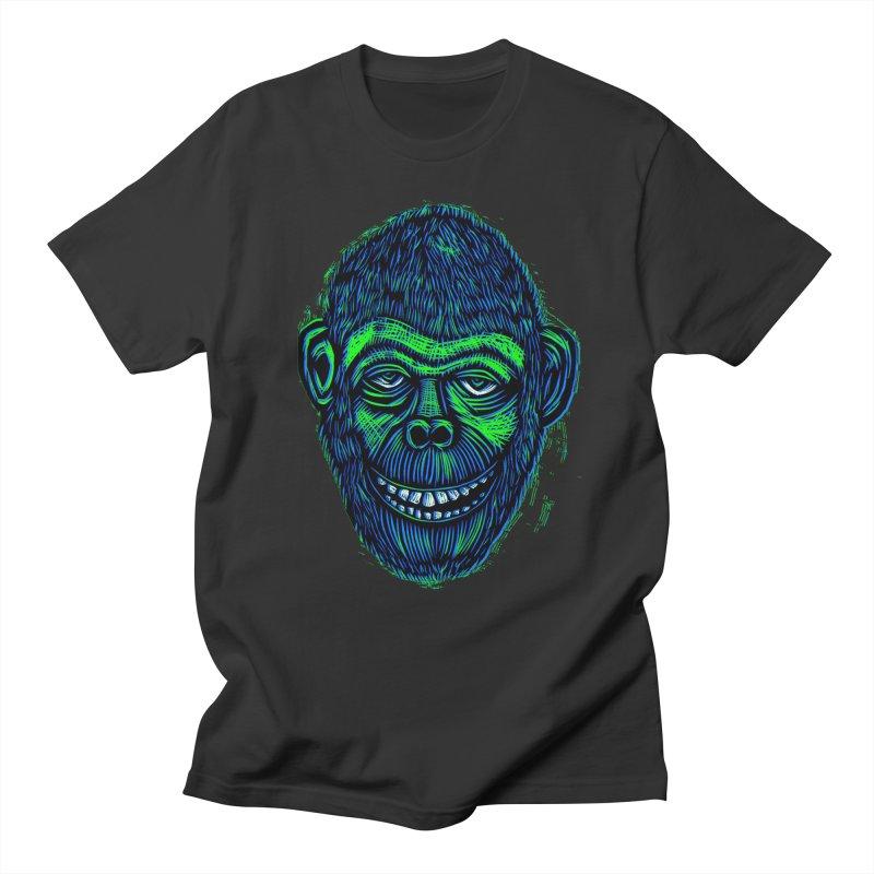 Chimp Men's T-shirt by Sean StarWars' Artist Shop