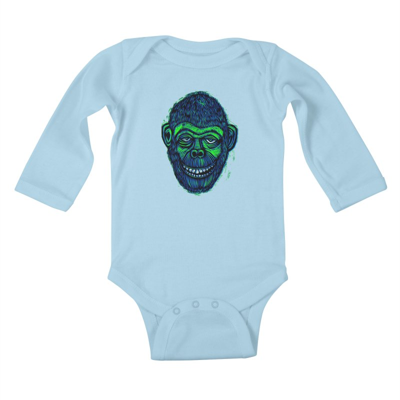 Chimp Kids Baby Longsleeve Bodysuit by Sean StarWars' Artist Shop