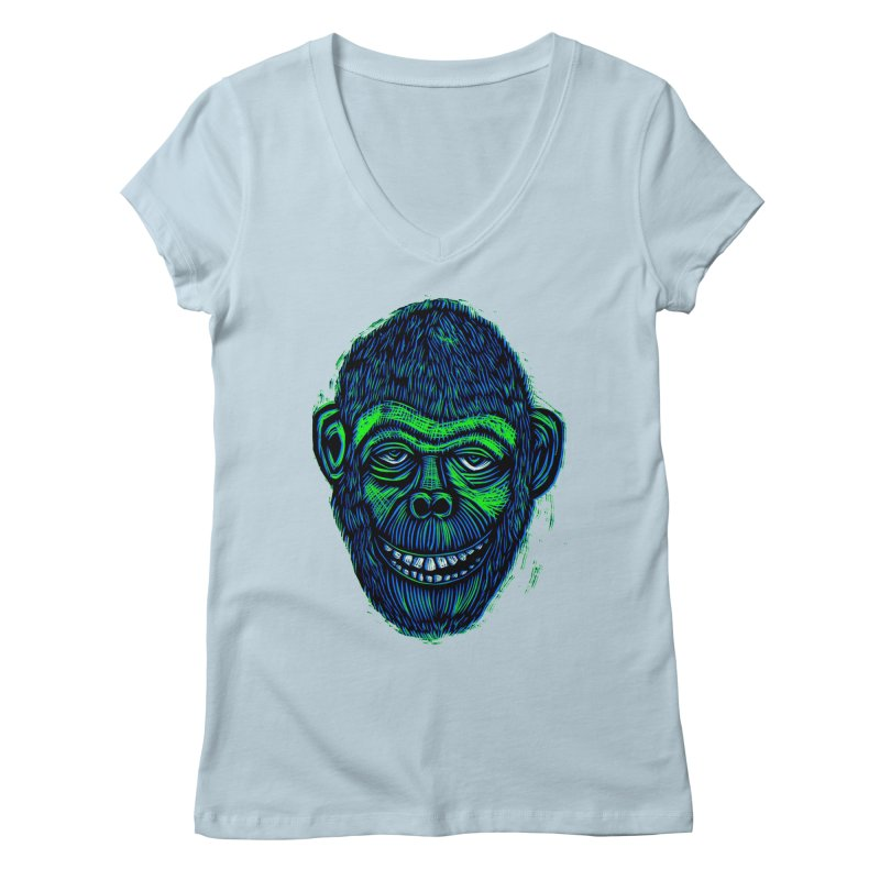 Chimp Women's V-Neck by Sean StarWars' Artist Shop
