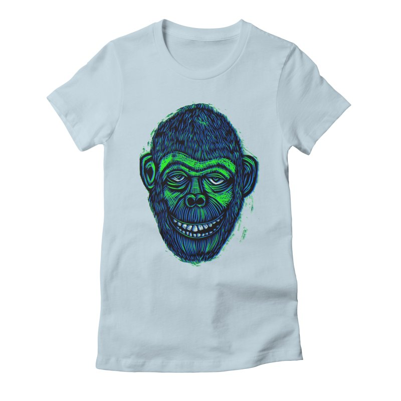 Chimp Women's Fitted T-Shirt by Sean StarWars' Artist Shop