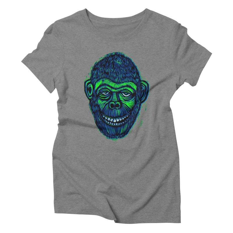 Chimp Women's Triblend T-Shirt by Sean StarWars' Artist Shop