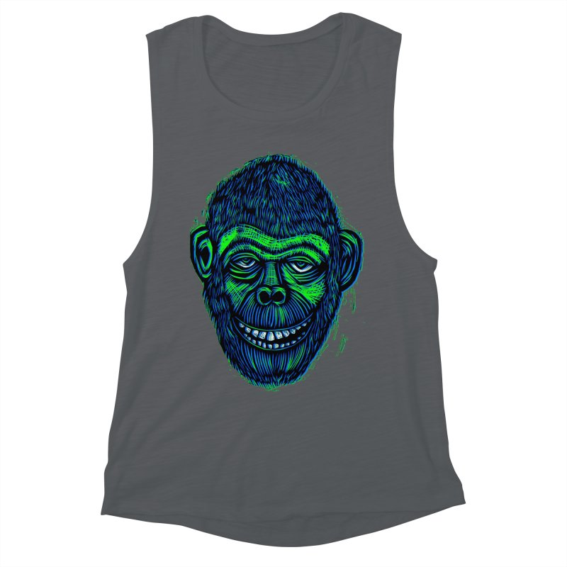 Chimp Women's Muscle Tank by Sean StarWars' Artist Shop