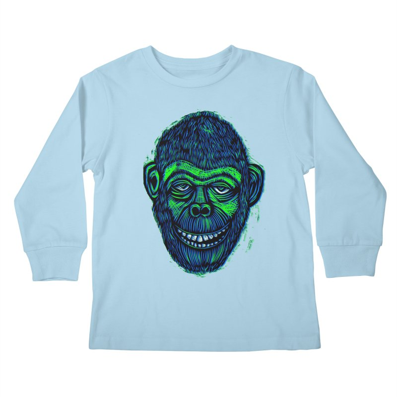 Chimp Kids Longsleeve T-Shirt by Sean StarWars' Artist Shop