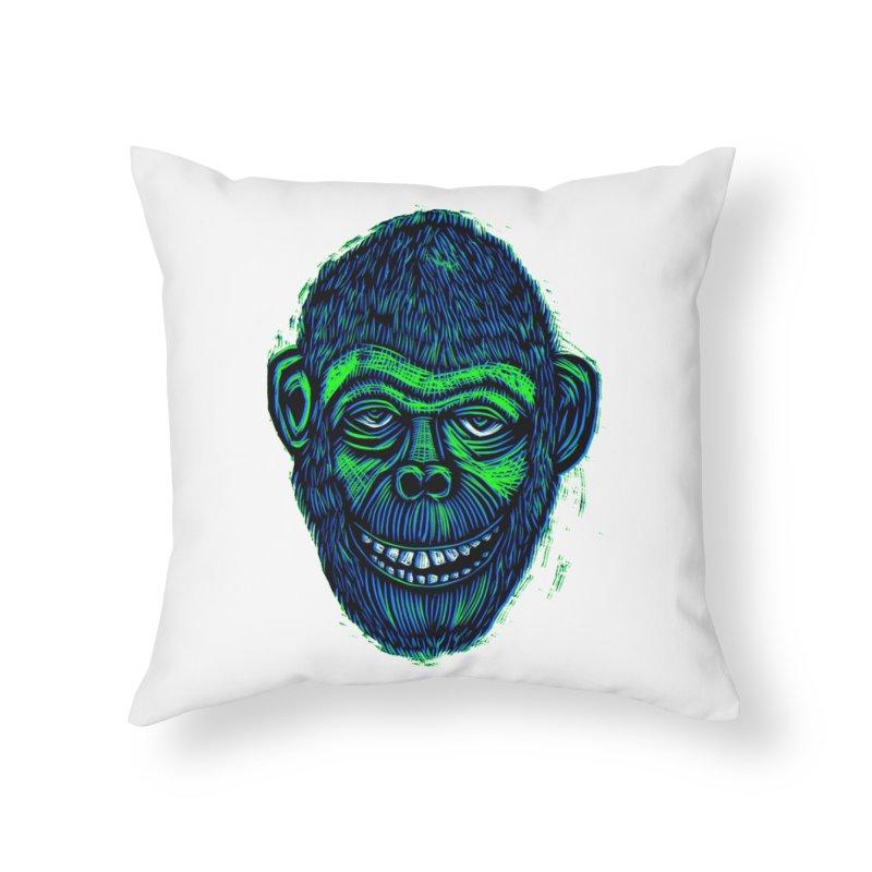 Chimp Home Throw Pillow by Sean StarWars' Artist Shop