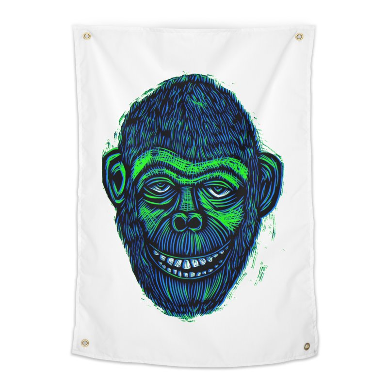 Chimp Home Tapestry by Sean StarWars' Artist Shop