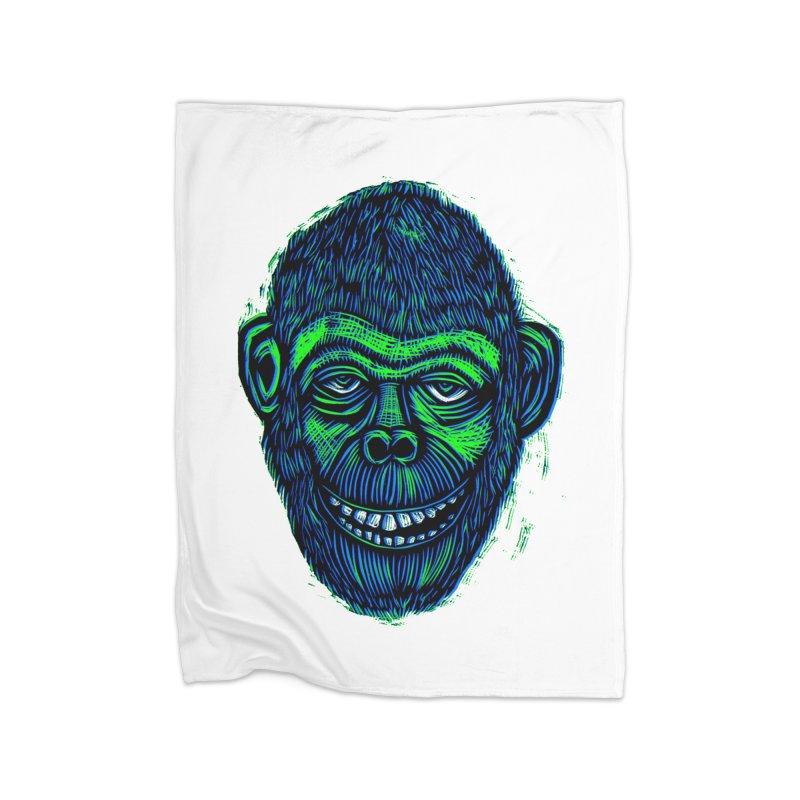 Chimp Home Blanket by Sean StarWars' Artist Shop