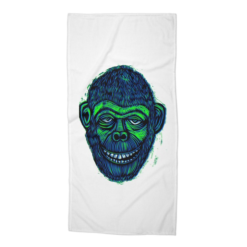 Chimp Accessories Beach Towel by Sean StarWars' Artist Shop