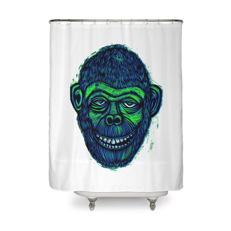 Chimp Home Shower Curtain by Sean StarWars' Artist Shop