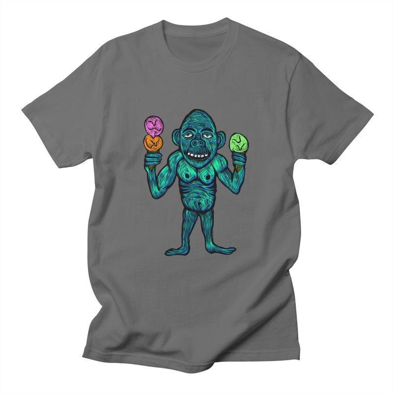 Ice Cream Chimp Men's T-Shirt by Sean StarWars' Artist Shop