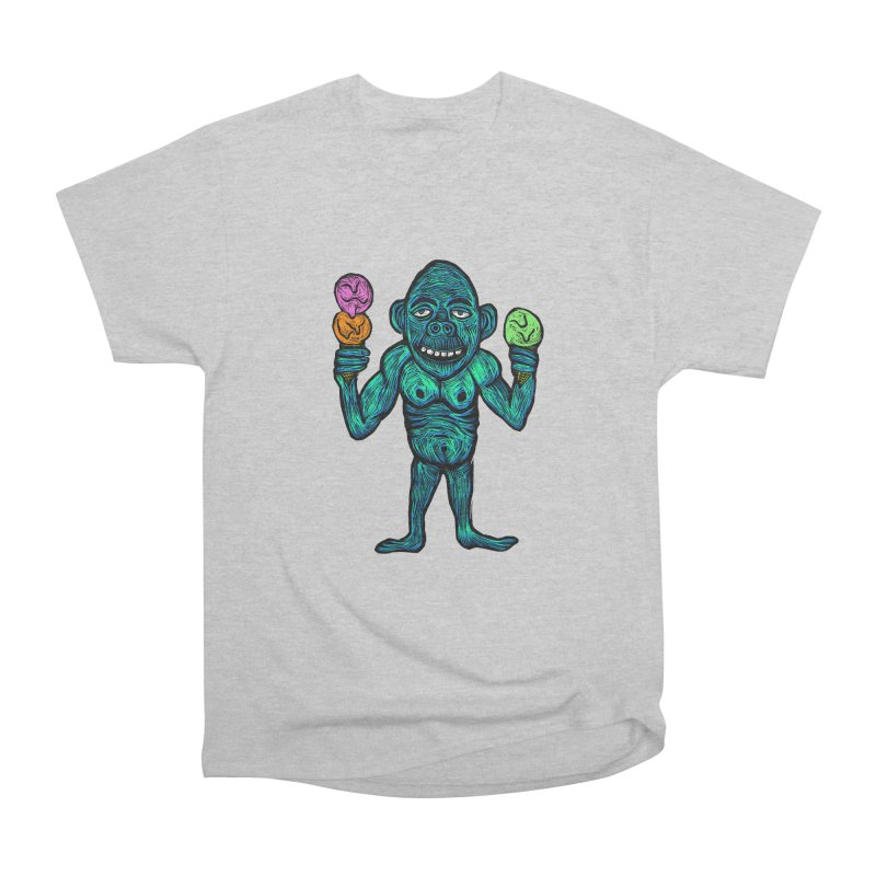 Ice Cream Chimp Women's Heavyweight Unisex T-Shirt by Sean StarWars' Artist Shop