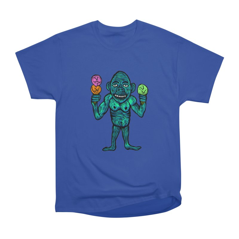 Ice Cream Chimp Men's Heavyweight T-Shirt by Sean StarWars' Artist Shop