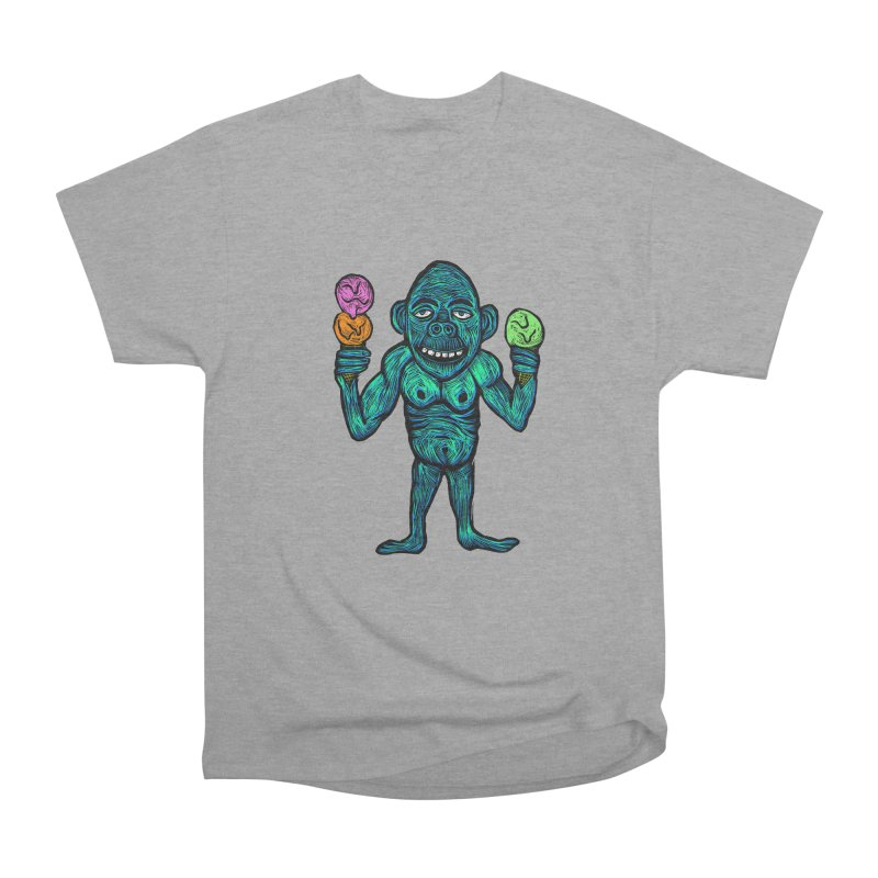 Ice Cream Chimp Men's Heavyweight T-Shirt by Sean StarWars' Artist Shop
