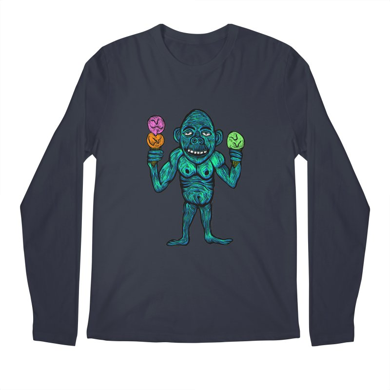 Ice Cream Chimp Men's Regular Longsleeve T-Shirt by Sean StarWars' Artist Shop