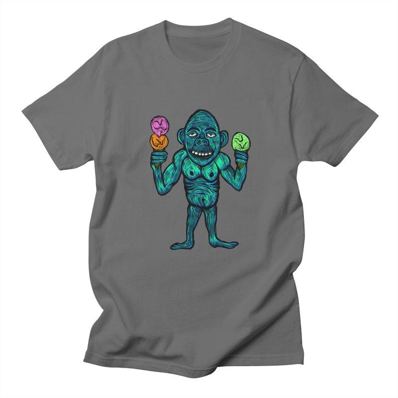 Ice Cream Chimp Men's Regular T-Shirt by Sean StarWars' Artist Shop