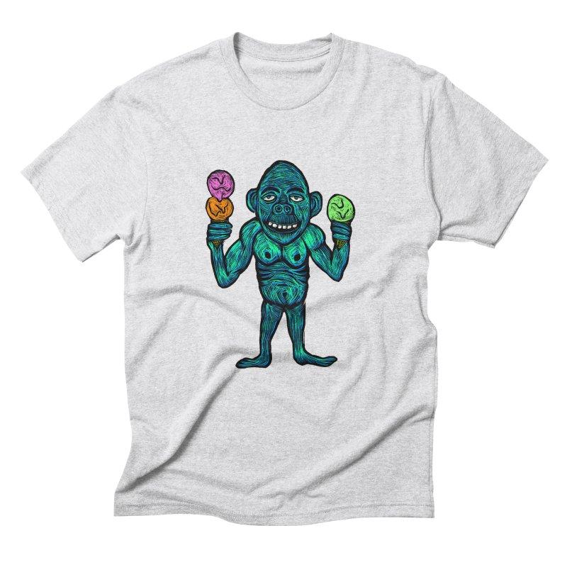 Ice Cream Chimp Men's Triblend T-Shirt by Sean StarWars' Artist Shop
