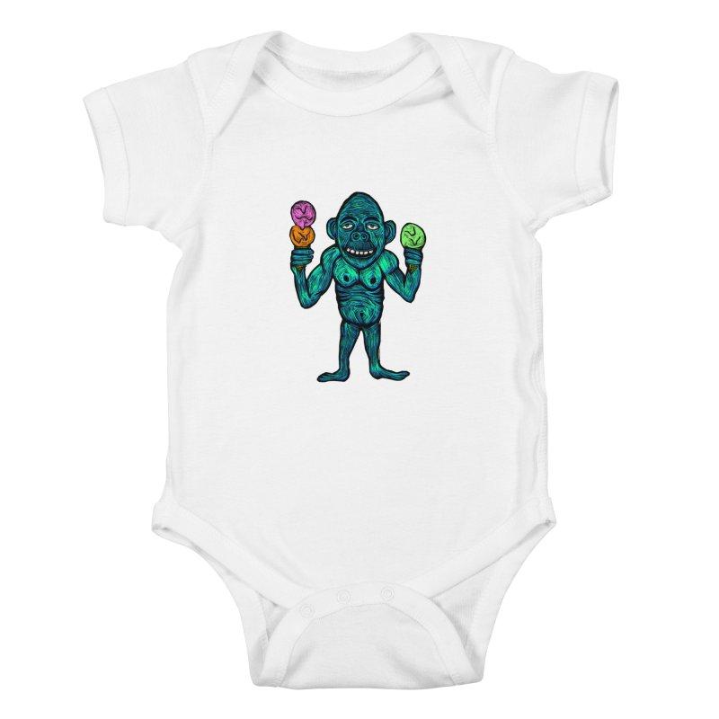 Ice Cream Chimp Kids Baby Bodysuit by Sean StarWars' Artist Shop