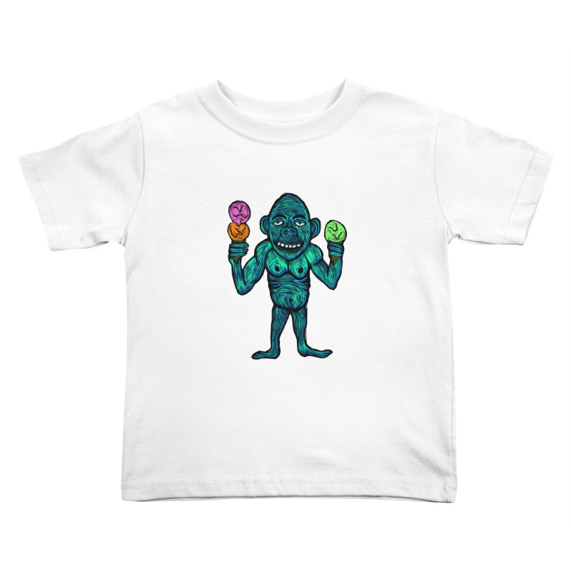 Ice Cream Chimp Kids Toddler T-Shirt by Sean StarWars' Artist Shop