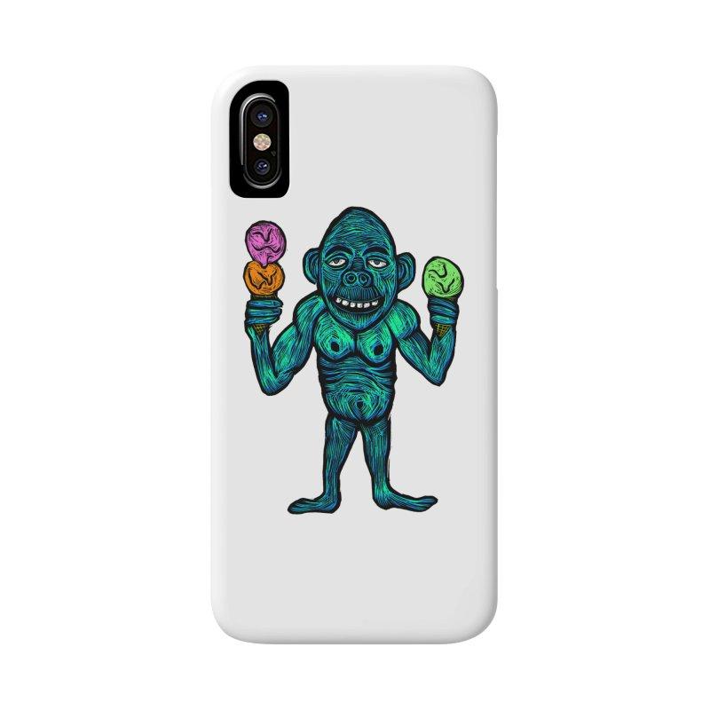 Ice Cream Chimp Accessories Phone Case by Sean StarWars' Artist Shop