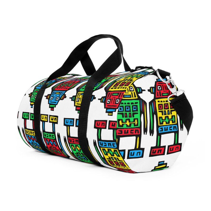Shina Robots Accessories Duffel Bag Bag by Sean StarWars' Artist Shop