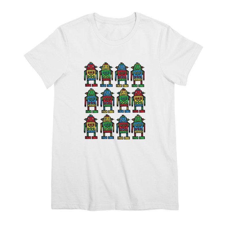 Shina Robots Women's Premium T-Shirt by Sean StarWars' Artist Shop