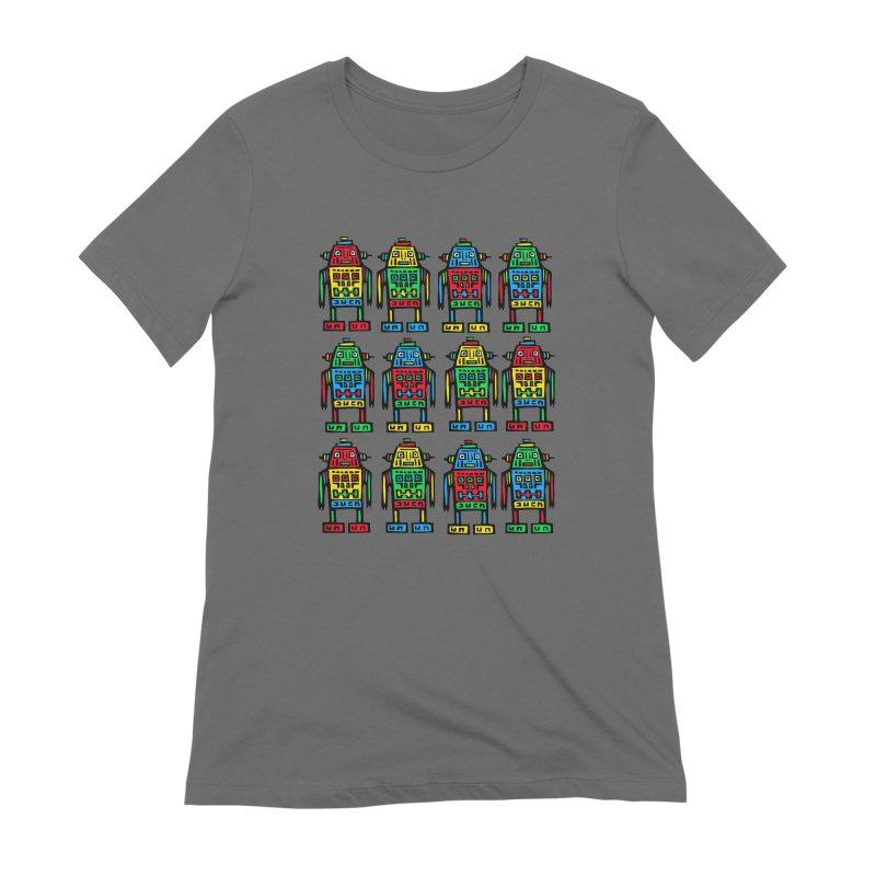 Shina Robots Women's Extra Soft T-Shirt by Sean StarWars' Artist Shop
