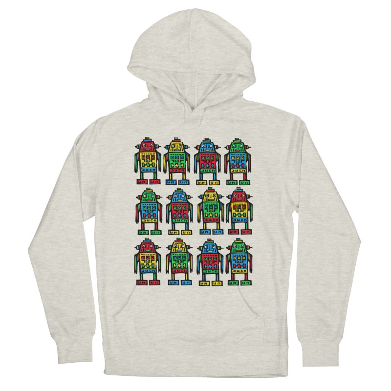 Shina Robots Men's French Terry Pullover Hoody by Sean StarWars' Artist Shop