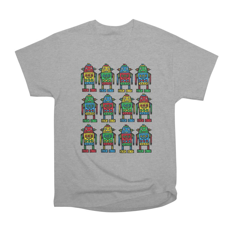 Shina Robots Women's Heavyweight Unisex T-Shirt by Sean StarWars' Artist Shop