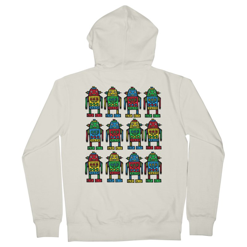 Shina Robots Men's French Terry Zip-Up Hoody by Sean StarWars' Artist Shop