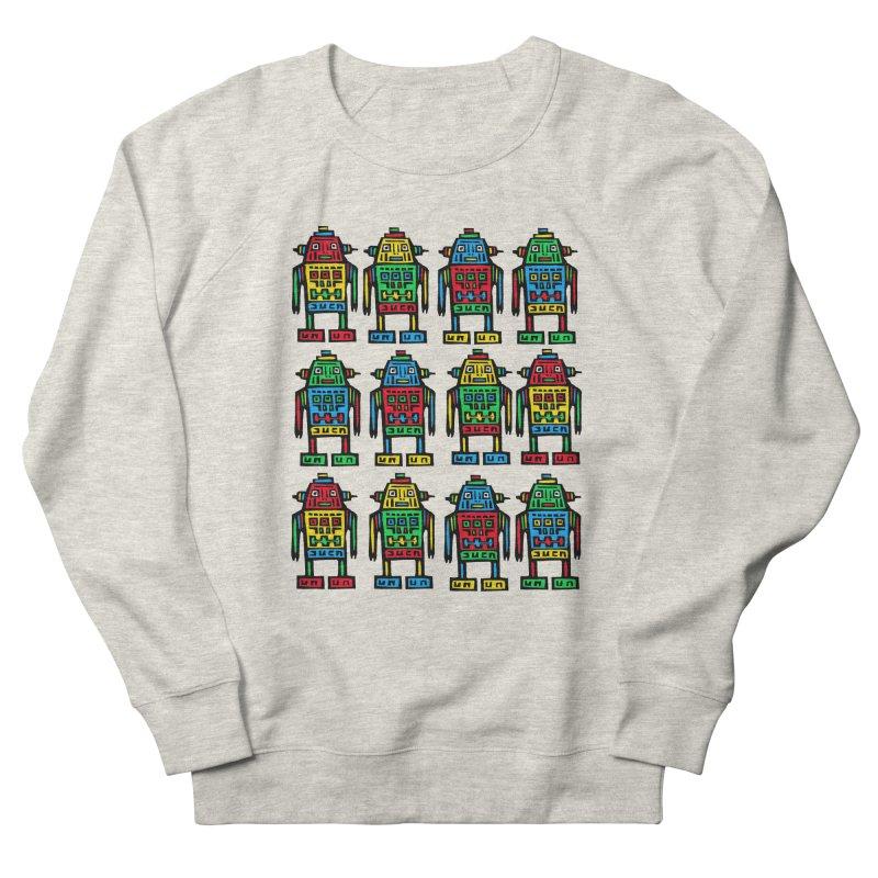 Shina Robots Men's French Terry Sweatshirt by Sean StarWars' Artist Shop