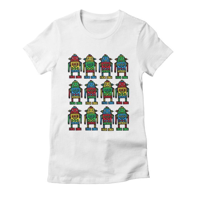 Shina Robots Women's Fitted T-Shirt by Sean StarWars' Artist Shop