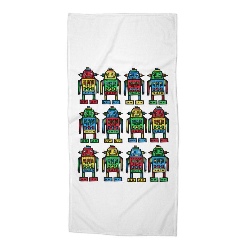 Shina Robots Accessories Beach Towel by Sean StarWars' Artist Shop