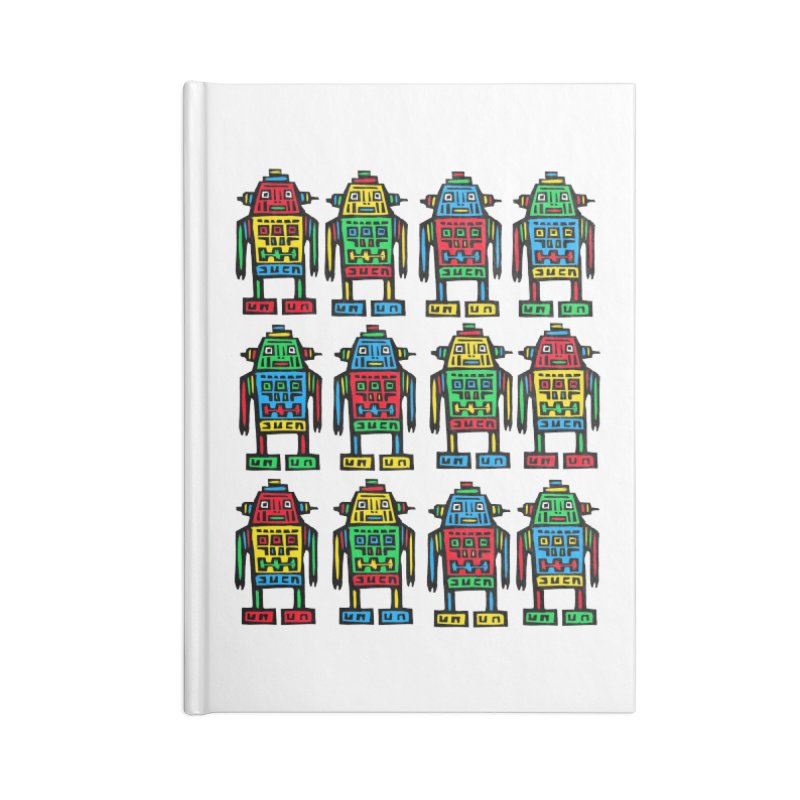 Shina Robots Accessories Lined Journal Notebook by Sean StarWars' Artist Shop