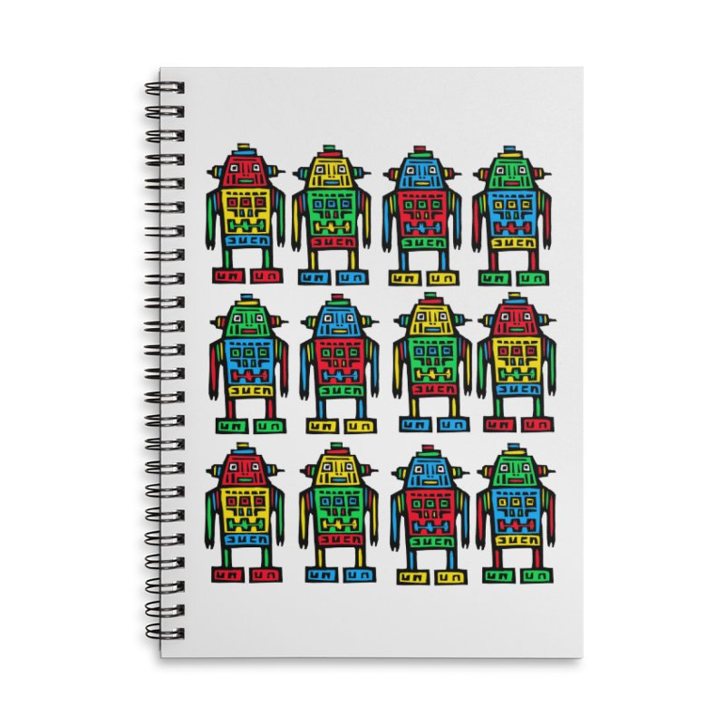 Shina Robots Accessories Lined Spiral Notebook by Sean StarWars' Artist Shop
