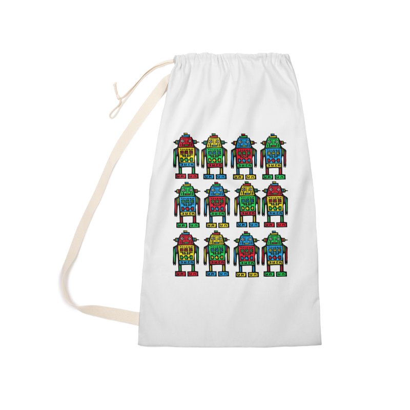 Shina Robots Accessories Laundry Bag Bag by Sean StarWars' Artist Shop