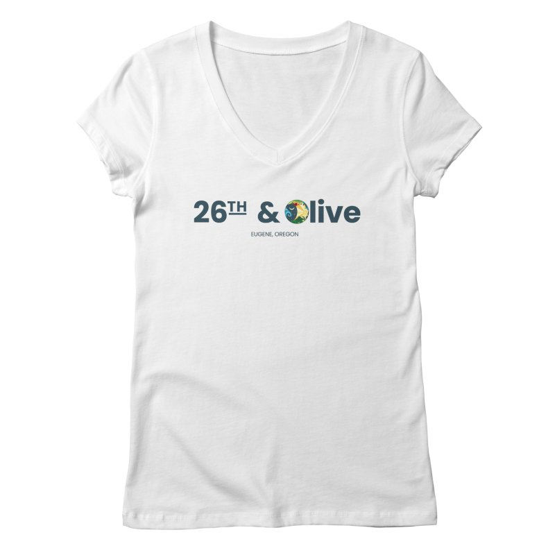 26th & Olive Women's V-Neck by The Woodfield Shop