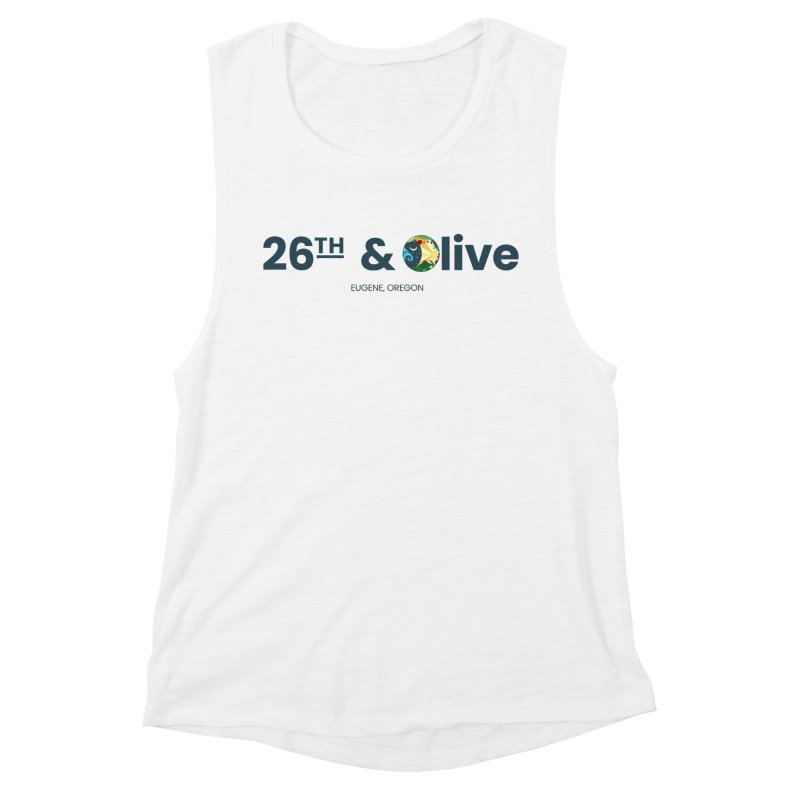 26th & Olive Women's Muscle Tank by The Woodfield Shop