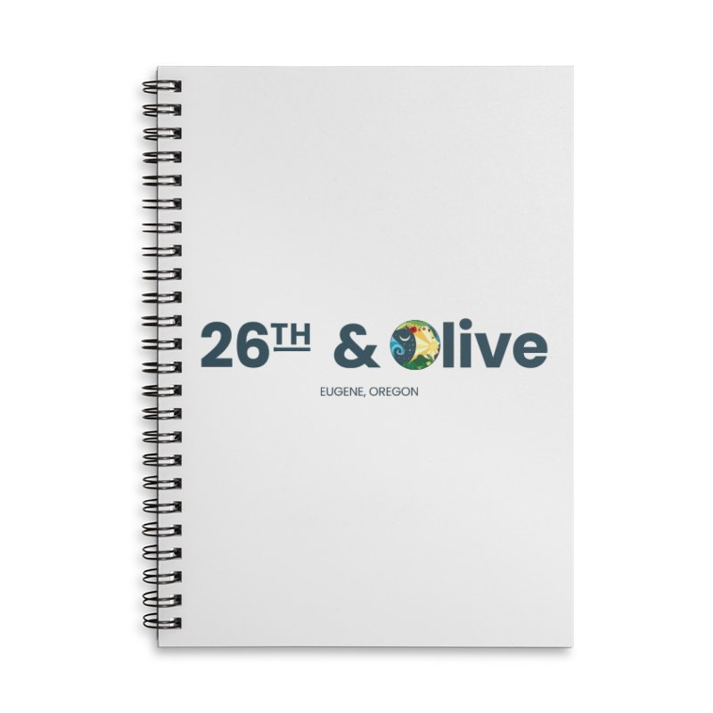 26th & Olive Accessories Lined Spiral Notebook by The Woodfield Shop