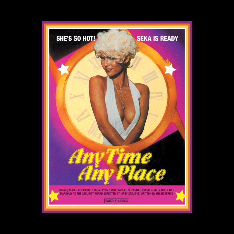 Any Time Any Place by WoodRocket Shop
