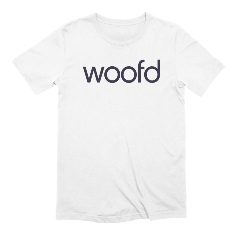 """White """"Woofd"""" Shirts Men's T-Shirt by Woofd Shop"""