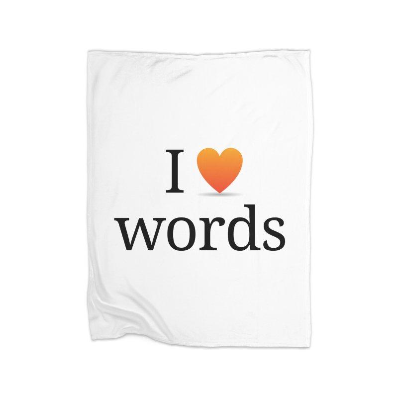 I ♡ words accessories Home Blanket by wordnik's Artist Shop