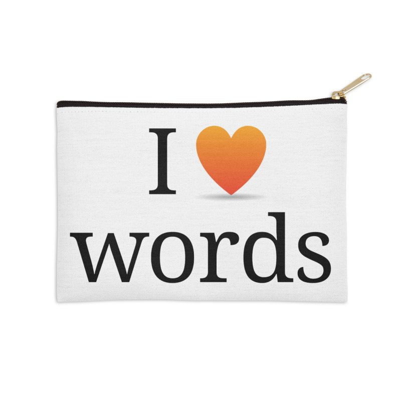 I ♡ words accessories Accessories Zip Pouch by wordnik's Artist Shop