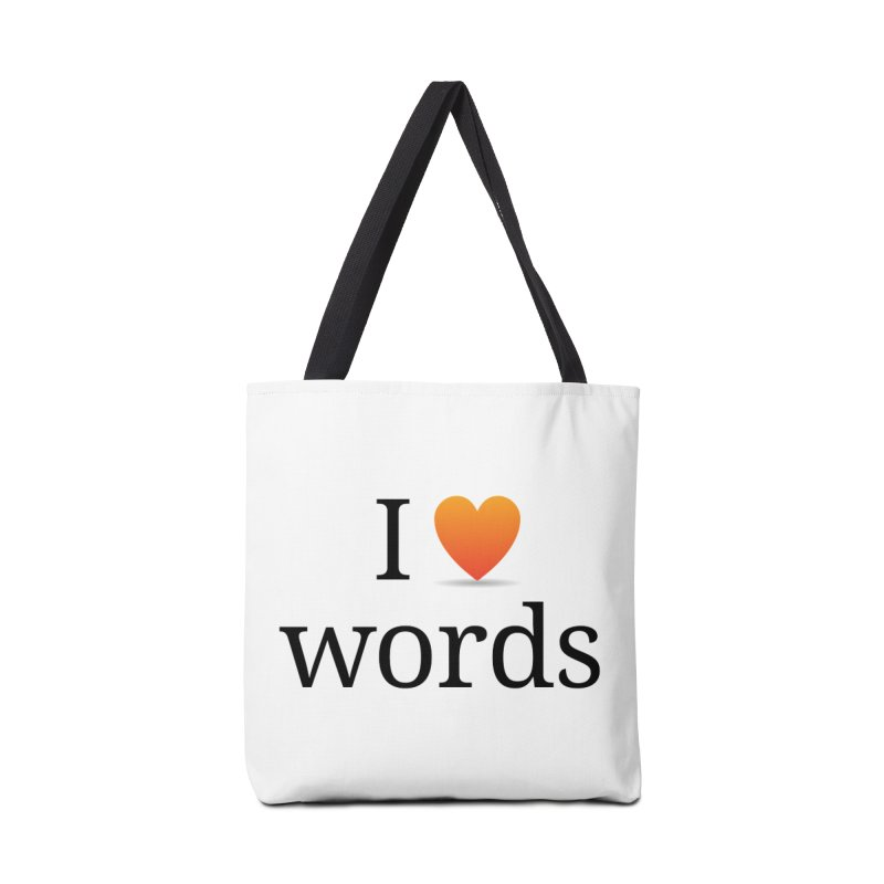 I ♡ words accessories Accessories Bag by wordnik's Artist Shop