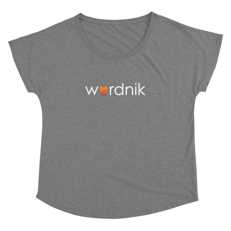 Wordnik Fan Shirt Women's Scoop Neck by wordnik's Artist Shop