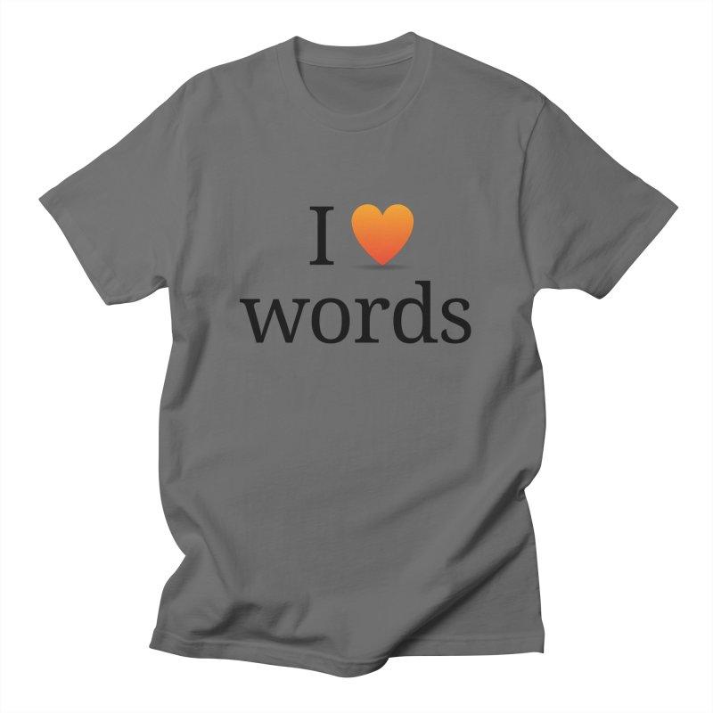 "The Wordnik ""I (heart) Words"" shirt Men's T-Shirt by wordnik's Artist Shop"