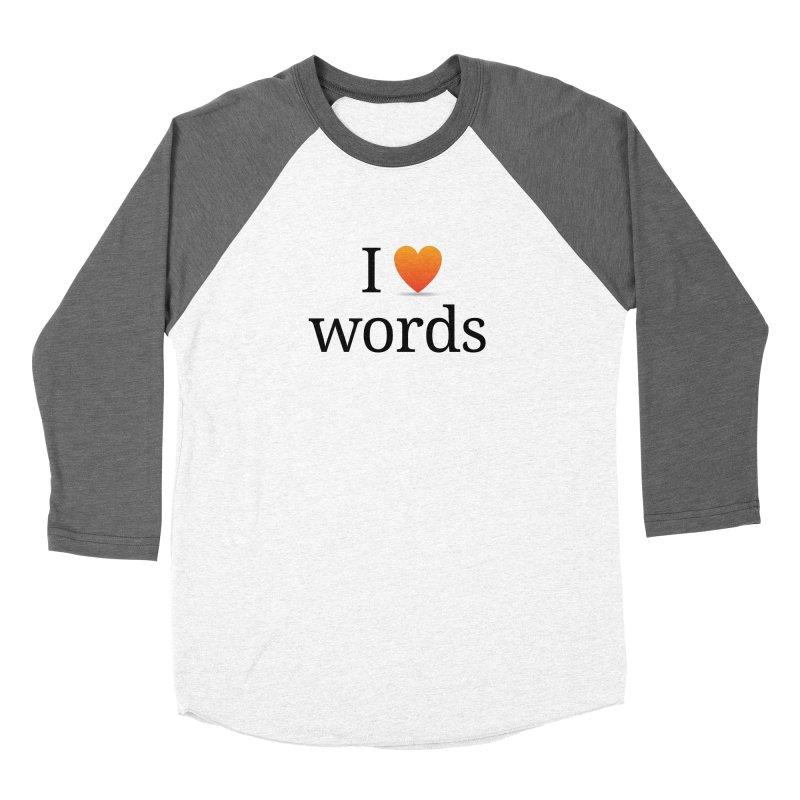 "The Wordnik ""I (heart) Words"" shirt Men's Baseball Triblend Longsleeve T-Shirt by wordnik's Artist Shop"