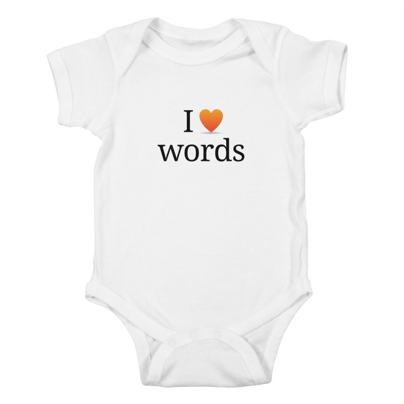 "The Wordnik ""I (heart) Words"" shirt Kids Baby Bodysuit by wordnik's Artist Shop"