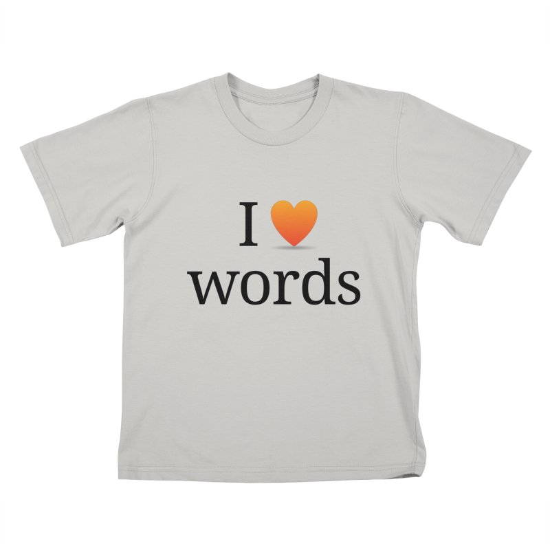 "The Wordnik ""I (heart) Words"" shirt Kids by wordnik's Artist Shop"