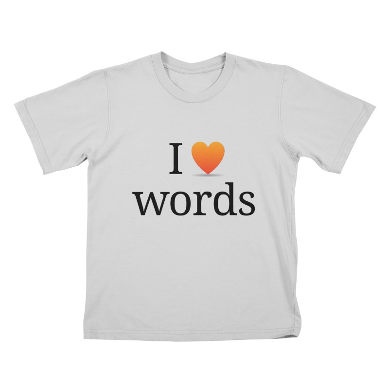 "The Wordnik ""I (heart) Words"" shirt Kids T-Shirt by wordnik's Artist Shop"