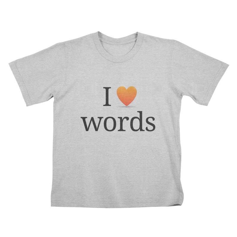 "The Wordnik ""I (heart) Words"" shirt Kids T-Shirt by wordnik's Artist Shop"