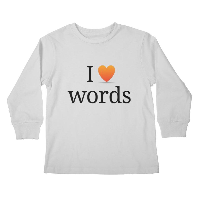 "The Wordnik ""I (heart) Words"" shirt Kids Longsleeve T-Shirt by wordnik's Artist Shop"